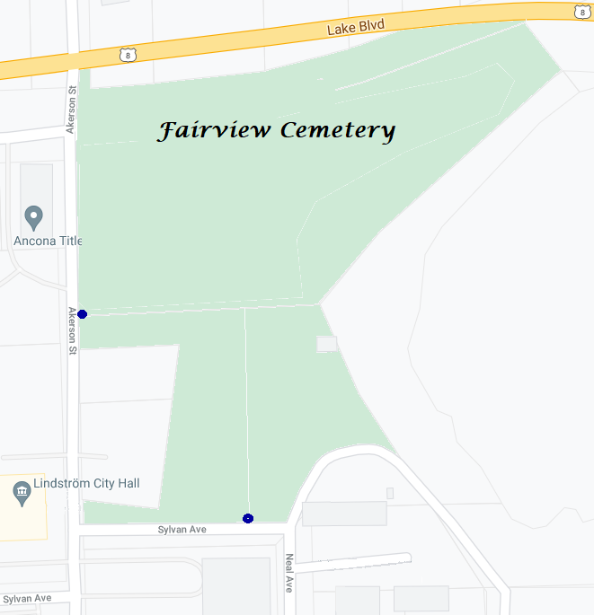 Road Map of Fairview Cemetery