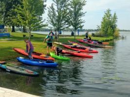 Chisago Lakes Water Trail Kayakers- Photo by Mary Kay Ripp