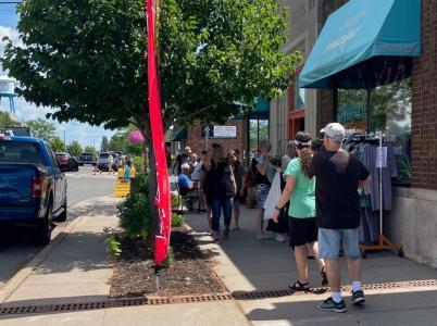Karl Oskar Days downtown shopping- Photo by Miranda Olson